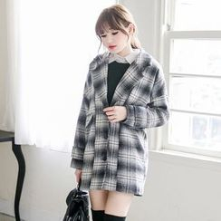 Tokyo Fashion - Plaid Button Coat