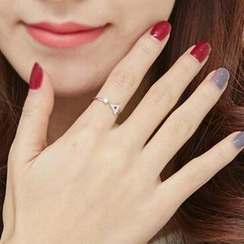 Zundiao - 純銀水鑽戒指