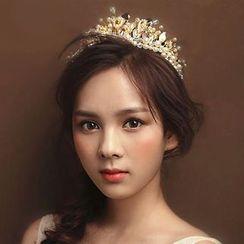Ashmi - Bridal Faux Pearl Tiara
