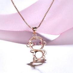Zundiao - Sterling Silver Monkey Pendant