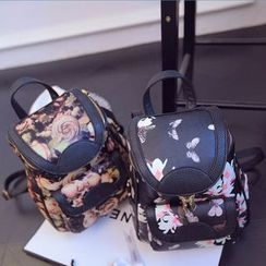 Tasche - Floral Print Three-Way Backpack