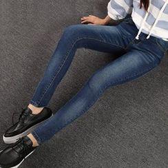 blue babe - High-Waist Skinny Jeans