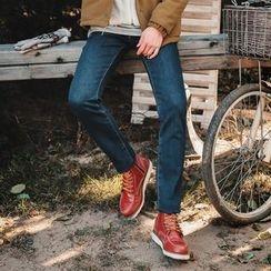 MEOSIDDA - Fleece-Lined Slim-Fit Jeans