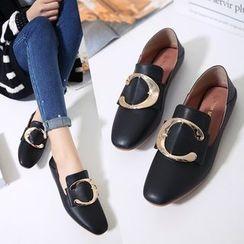 安若 - 金屬釦子樂福鞋