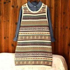 tete - Sleeveless Printed Knit Dress