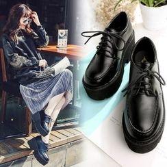 Anran - Lace-Up Platform Shoes