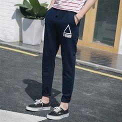 Chic Maison - 抽绳印花长裤