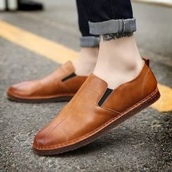 MARTUCCI - Faux-Leather Slip-Ons