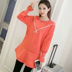 Color7 - Long-Sleeve Paneled Tunic