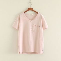 Mushi - Short-Sleeve Pocketed T-Shirt