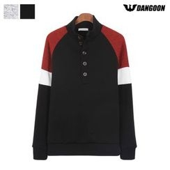 DANGOON - Mock-Neck Raglan-Sleeve Henley