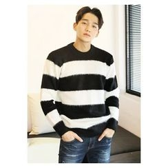 HOTBOOM - Rugby-Stripe Wool Blend Sweater