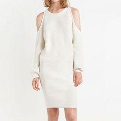 Obel - Cut Out Shoulder Sweater Dress