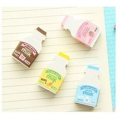 School Time - Milk Bottle Eraser