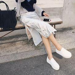 DABAGIRL - Crinkled Láme Long Skirt