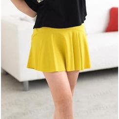 59 Seconds - Banded Waist A-Line Skirt