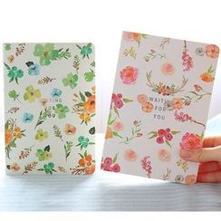 School Time - Floral Print Notebook (S)