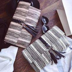 Velocia - 流蘇條紋手包