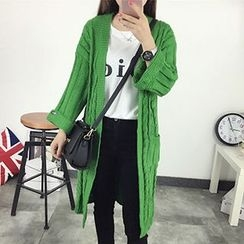 FR - Cable Knit Long Cardigan
