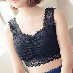 Fitight - Lace Cropped Tank Top