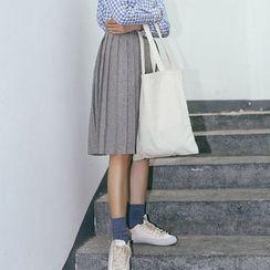 Porta - Pleated midi Skirt