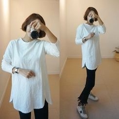 STYLEBYYAM - Round-Neck Long T-Shirt