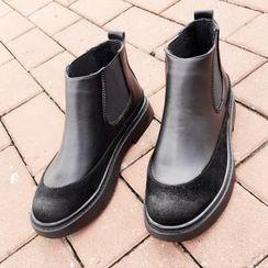 南在南方 - 鬆緊邊踝靴