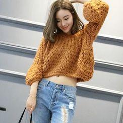 YAMI - Cropped Chunky Knit Sweater
