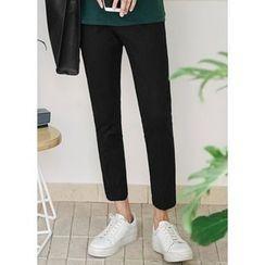 JOGUNSHOP - Flat-Front Linen-Blend Pants