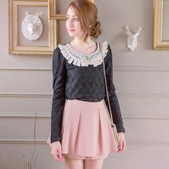 Tokyo Fashion - Long-Sleeve Lace Blouse