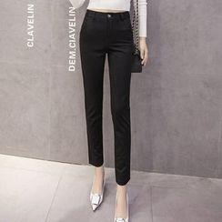 Angel Shine - High Waist Slim Fit Pants