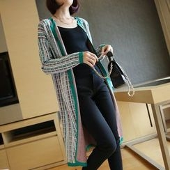 YIDIYU - Patterned Long Cardigan