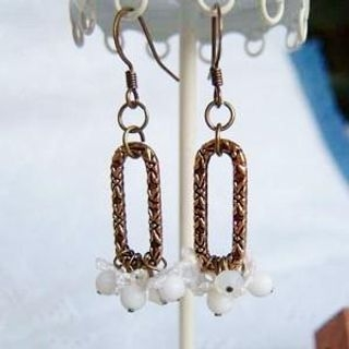 MyLittleThing - Vintage Long Ring Little Flower Bead Earrings