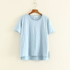 Mushi - Short-Sleeve Plain T-Shirt