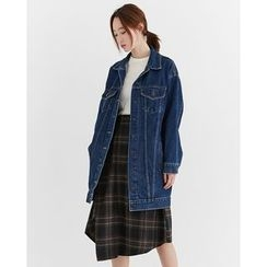 Someday, if - Pocket-Side Denim Long Jacket