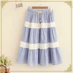 Fairyland - Lace Trim Midi Skirt