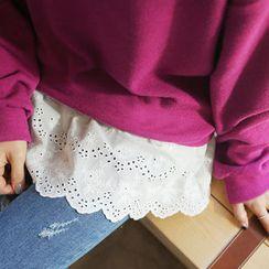 CLICK - Sleeveless Lace-Hem Top