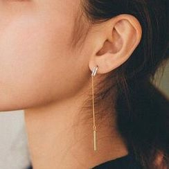 HayHill - Bar Non-Matching Earrings / Clip-On Earrings