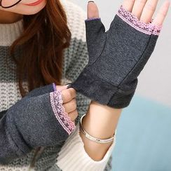 Seoul Young - Lace-Trim Gloves