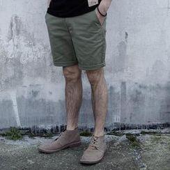 YIDESIMPLE - Cotton Plain Shorts