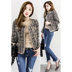 INSTYLEFIT - Buttoned Tweed Jacket
