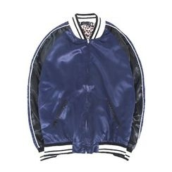Chuoku - Color Block Baseball Jacket