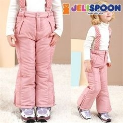 JELISPOON - Girls Suspender Ski Pants