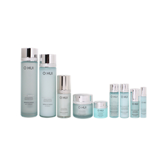 O HUI - Miracle Aqua Basic 4-piece Special Gift Set: Skin Softener 150ml + 20ml + Emulsion 130ml + 20ml + Essence 20ml + 3ml + Gel Cream 20ml + 7ml + Eye Serum 10ml