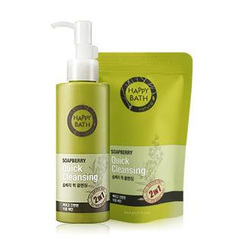 HAPPY BATH - Soapberry Set: Quick Cleansing 175ml + Refill 80ml
