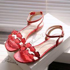 CITTA - Heart Flat Sandals