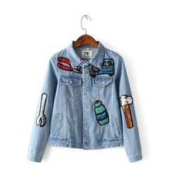 Neeya - Hammer Sequinned Denim Jacket