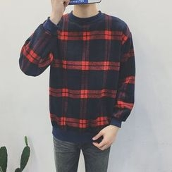 Soulcity - Plaid Sweatshirt