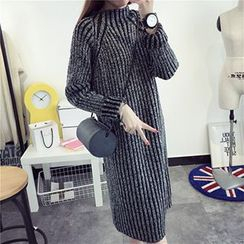 芙苪FR - 高領針織連衣裙