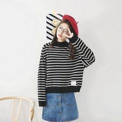 Polaris - Striped Knit Pullover